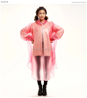 Fashion PVC Reusable Rain Poncho