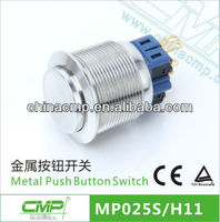 25 mm Momentary Pushbutton Switches , Micro Push Switch
