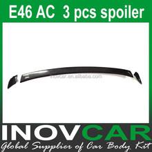 E46 AC style carbon 3 pcs race car wings spoiler for Bmw e46 rear spoilers