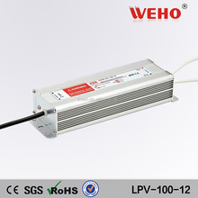 waterproof led driver 100w ac/dc single output 12v power supply
