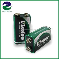 High capacity Super Heavy Duty Dry Battery / carbon zinc 9v batteries