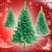 1.5m colorful plastic pine needle Christmas tree with pine cones