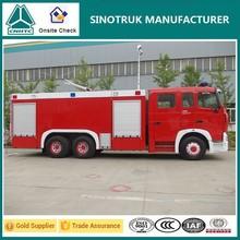 sinotruk howo a7 migliore fabbrica qualità con 8 ton camion dei pompieri capacità di acqua