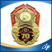 high quality die cut metal badge military
