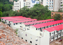 Guangzhou high quality steel structure bamboo prefabricated house