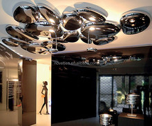 Led metal ceiling lamp and light fixture