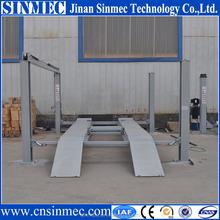 Sinmec used 4 post car lift for sale lift platform lift up storage bed