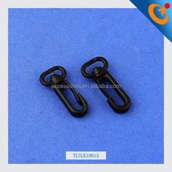 Wholesale plastic swivel snap hook hanger for bag or backpack (15mm)