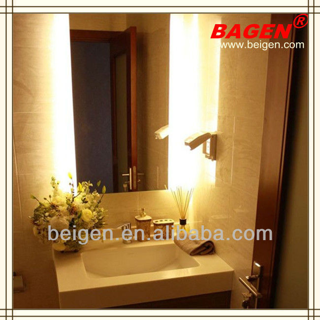 Buy lighted bathroom vanity mirrors online lighted vanity mirror for - Hotel Bathroom Mirror With Back Lighting Modern Bathroom