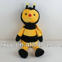 High quality plush toys bees,new year insect toy,cute toy