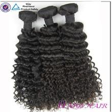 Chinese manufacturer 100% pure vrigin human hair brazillian deep wave hair weaving