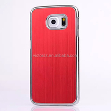 for Samsung Galaxy S6 Edge Aluminum Cover Chrome Side Red Color