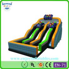 2015 Enjoy Inflatable Roller Coaster Slide N Drop Kick, large slides for kids, giant adult inflatable slide