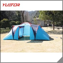 high quality waterproof big family 5+person camping tent