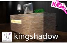 2015 Hot vente Salon de coiffure prix des meubles Salon de beauté réception bureau équipement de Salon