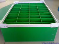 moistureproof and eco-friendly plastic pp colorful crate
