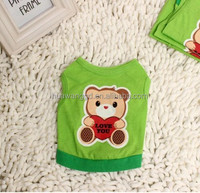 lovable dogs dog clothes green dog shirt with bear pattern