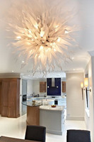 Romantic Artistic Pure White Handmade Ceiling Lamp