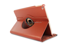 Brown rotating leather case for ipad air 2, 360 rotating standing leather case( Lychee grain) with sleeping function HH-IP605-46