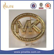 Завод прямых продаж металла золота мк логотип с бриллиантом, мк сумки металлические бирки