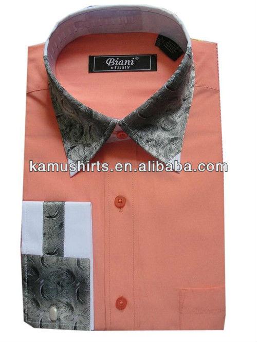 Italian fashion new design high collar mens shirts china for Italian style dress shirts
