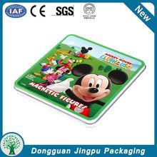 Square portable Cartoon design dvd tin case