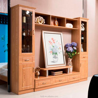Factory Wholesale Wood LED TV Wall Unit Design