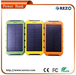 2015 the newest design solar panle style, solar cell phone charger with extra wide solar panel 10000mah