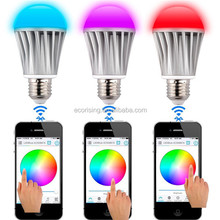 AC100-240V 90lm/w E26/E27 Medium Base Color Changing LED Bulb Buletooth Remote Controlled Fancy lights