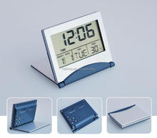 Hairong table alarm clock factory supply with snooze light desk clock
