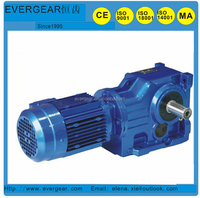 K series speed reducer with eletric motor ,helical bevel gearbox, 90 degree helical gearbox