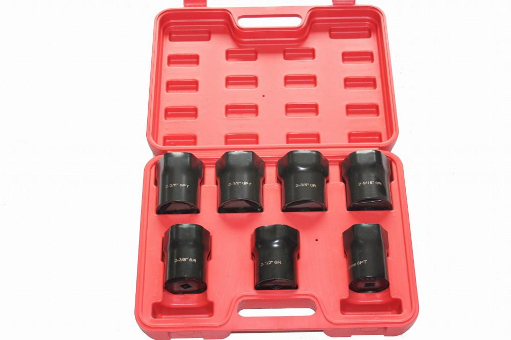 Socket Wrench Set 4x4 Axle Bearing Lock Nut 7pc Socket Wrench Set Case Locknut Wheel