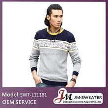 New arrival men woolen sweater design online clothes shopping