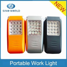 2014 hot product alibaba website 16+3LED magnetic high quality battery operated portable led battery work light with hook