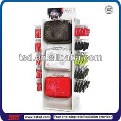 TSD-W204 custom handbag floor stand/white painting display rack for laptop/floor stand for ipad case