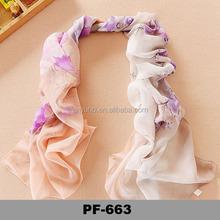 Wholesale wisdom flower high-end art cultural pure silk PF663 Colorful silk scarf
