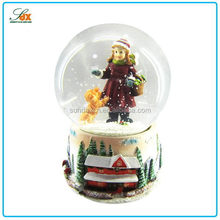 Top Quality Top Sell Sweet Girl Cute Baby Snow Globes Wholesale / Custom Human Snow Globe