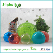 2 Parts Open Hollow Design Solid Colored Round Lighting Plastic Balls