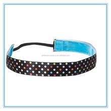 Men sport headband, fashional women's polka dots elastic hair band, custom printing hair accessory