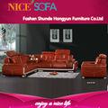 Moderno y cómodo sofá de la sala de muebles, de cuero sofá de la esquina diseños, de moda de cuero sofá de la esquina qzn820l