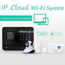 WiFi gsm home security alarm system with APP application and RFID keypad