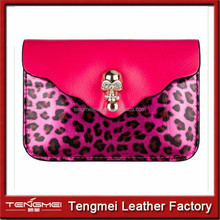 Rose Leopard Skull Universal Pouch Bag cell phone case for iphones