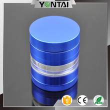 Innovative design 4 part weed herb grinder with glass container