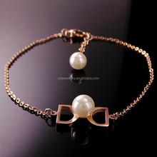 girls stainless steel 22k gold chain bracelets