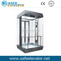 Glass observation elevator home elevator