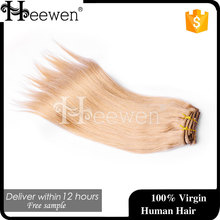 Blonde Clip In Hair Extension! The Best Quality European Human Sliky Hair