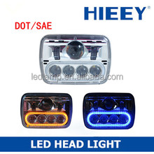 "DOT complied 5""x7"" rectangle LED high beam and low beam head light headlight auto head lamp"