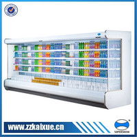 Multi-deck supermarket commercial refrigerated showcase with remote compressor