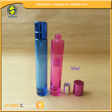 50ml pink glass perfume bottle with screw neck