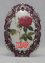 Exquisite Metal Picture Photo Frame Decorated with Beautiful Flower